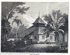 Antique print mosque Ambon / Amboina / Amboyna 1875