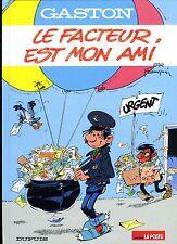 """FRANQUIN """"Le facteur est mon ami"""" GASTON avecTimbre oblitéré Neuf !"""