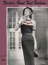 Fleisher's #90 c.1951 Fashionable Vintage Hand Knitting Patterns for Women