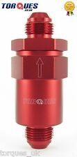 AN -8 (8AN AN08 -08JIC ) Red Anodised Billet Aluminium Fuel Filter 30 Micron