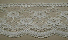 """Beige Lace Trimming 2 yards  4"""" Single Scallop #6730 Clothing Victorian Dolls"""