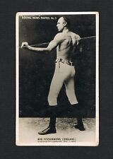 RARE vintage Bob Fitzsimmons boxing photo type unusual card exhibit boxer Robert