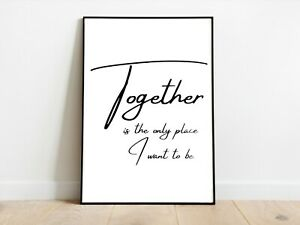 Together Family Living Wall Print A3/A4/A5 Posters Gift Idea