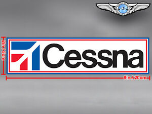 CESSNA RECTANGULAR LOGO DECAL / STICKER