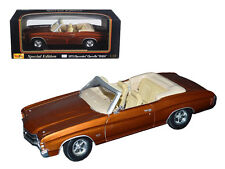 1971 Chevrolet Chevelle SS 454 Convertible Brown Detailed 1:18 Diecast 31883brn