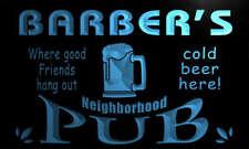 pg1335-b BARBER's Neighborhood Home Bar Pub Beer Neon Light Sign