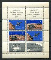39028) ROMANIA 1971 MNH** Luna 16 & 17 s/s