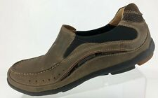 Clarks Unstructured Loafers Brown Leather Casual Comfort Moc Toe Shoes Mens 9 M