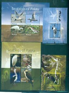 Palau - Sc# 1055-8. 2011 Sea Birds. 4 MNH Souv. Sheets. $24.00.
