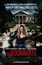 Leighton Meester & Minka Kelly Signed The Roomate 11x17 Movie Poster COA