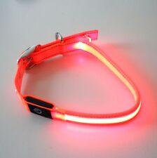 2 Stück LED Hunde Halsband Orange 40-50 cm oranger Leuchtstreifen Leuchtband B23
