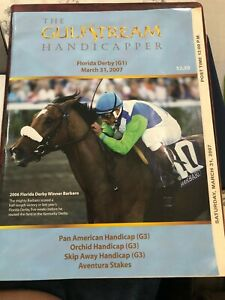 FLORIDAY DERBY PROGRAM 4-31-2007 - Scat Daddy Wins