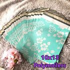 40 Designer Printed Poly Mailers 10X13 Shipping Envelopes Bags Aloha Mint