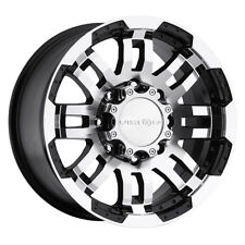 "4-New Vision 375 Warrior 16x6 8x165.1/8x6.5"" +0mm Black/Machined Wheels Rims"