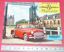 DEPLIANT BROCHURE PUBLICITE REGIE RENAULT FREGATE TRANSFLUIDE MANOIR 1958 AUTO