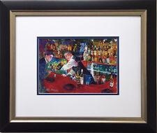 """LeRoy Neiman """"Frank at Rao's"""" Newly CUSTOM FRAMED Art Print Sinatra NYC italian"""
