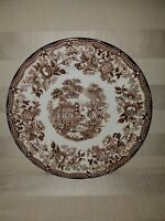 Royal Staffordshire Tonquin Brown Clarice Cliff Transferware Dinner plate