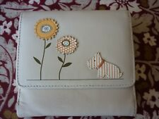 Cream leather Radley purse/wallet - dog and flowers