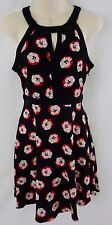 NWT Women's Elle Dame De La Fleur Black Red Pink Flowers Dress Size 2 Sexy
