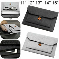 Laptop Notebook Felt Sleeve Pouch Bag For Apple Mac Air/Pro/Retina iPad 11-15in