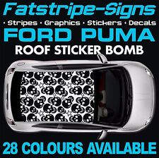 FORD PUMA GRAPHICS STICKER BOMB ROOF DECALS CAR VINYL ZETEC RALLY RACING STRIPES