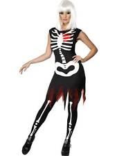 Bright Bones Glow in the Dark Costume, 4-6,Halloween Adult Fancy Dress  #CA