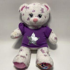 Build a Bear Disney Princess Bear Plush White Limited Edition Stuffed Animal Toy