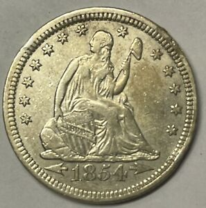 1854 Seated Liberty Quarter, Uncertified