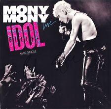 """BILLY IDOL Mony Mony Live VINYL 12"""" Steve Stevens White Wedding Autograph SIGNED"""
