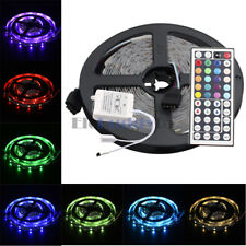 5M DC12V SMD RGB 5050 150LED Flexible Tape Strip Lights+44Key Remote Controller