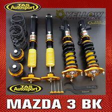 YELLOW-SPEED COILOVERS SUSPENSION DPS MAZDA 3 BK 04-09 2WD inc MPS yellowspeed