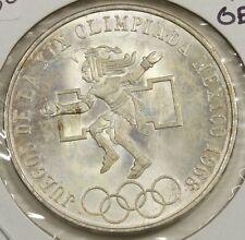 Mexico 1968 Mo Silver 25 Pesos GEM Brilliant Uncirculated 406I