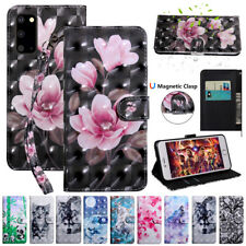 Painted Wallet Leather Flip Case For Samsung Galaxy S20 A21S A51 A71 Phone Cover