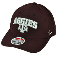 NCAA Zephyr Texas A&M Aggies Burgundy Hat Cap Curved Bill Snapback Adjustable
