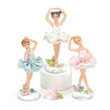 Hand-Painted Resin Ballerina Figurines Set of 3