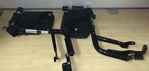 Invacare Wheelchair Hemi Footrests -Aluminum Footplates And Heel Loops, 1 Pair