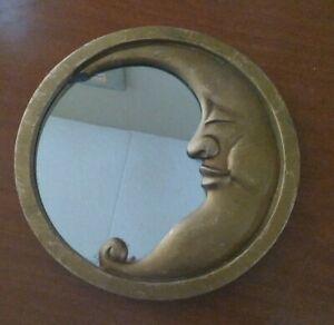 Vintage Moon Mirror man zodiac astrology cosmos stars solar lunar