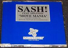 Sash! feat Shannon - Move Mania CD Single inc John B Norman / DJ Delicious Remix