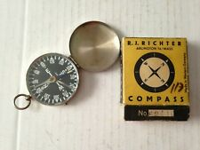 Vintage Nos Pocket Watch Style Compass R.J.Richter~Boxed~Made in W. Germany