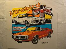 "Firebird Pontiac's Answer 1960s 12.5"" X12"" T Shirt Iron On Heat Thermal Transfer"