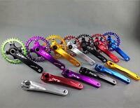MTB Road Bike CNC Crankset BCD104 Crank Arm Bottom Bracket Chainring Chain Ring