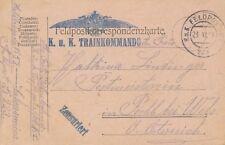 Nr 11385  Feldpost Karte K,u.K. Trainkommando FP 223  Südtirol  1915