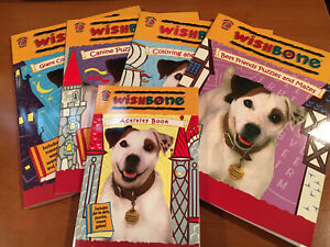90s PBS Wishbone the Dog Coloring Maze Activity Book Lot-  Teacher Prizes  ~NOS~