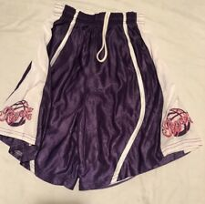 Alleson Women's Medium Purple And White Royals Reversible Basketball Shorts.