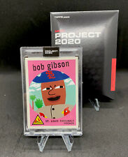 TOPPS PROJECT 2020 #54 BOB GIBSON BY KEITH SHORE W/BOX ST LOUIS CARDINALS PR1451