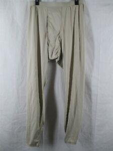 Gen 3 Level 1 Large Regular Sand Tan Silk Weight Drawers Bottoms ECWCS Army USGI