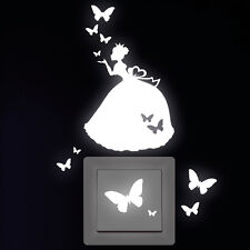 Pegatina Pared Luminosas Prinzessin Mariposas Tomacorriente Interruptor Luz 574