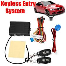 Universal Cars Remote Control Central Door Locking Keyless Entry Kit Set