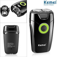 KM Electric Razor Shaver Trimmer Rechargeable Men Beard Shaving Hair Removal US