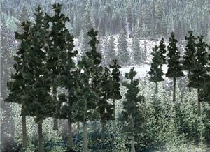 Woodland Scenics Ready Made Trees Value Pack. 33 pine trees. N scale, HO scale.